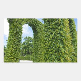 Sticker Rectangulaire Voûtes vertes de feuille