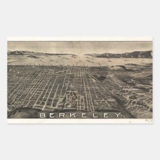 Sticker Rectangulaire Vue aérienne de Berkeley, la Californie (1909)