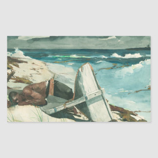 Sticker Rectangulaire Winslow Homer - après l'ouragan, Bahamas