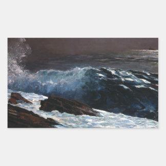 Sticker Rectangulaire Winslow Homer - lumière du soleil sur la côte