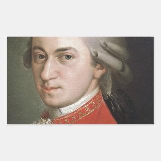 Sticker Rectangulaire Wolfgang Amadeus Mozart