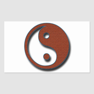 Sticker Rectangulaire Yin Yang par Shirley Taylor
