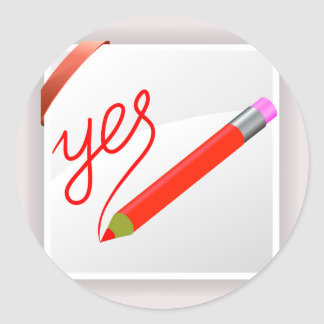 Sticker Rond 72Red Pencil_rasterized