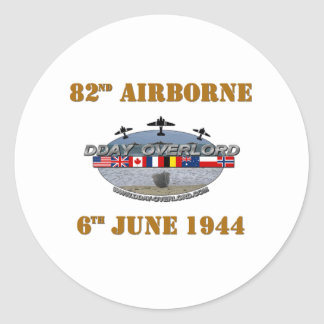 Sticker Rond 82nd Airborne Division 6th June 1944