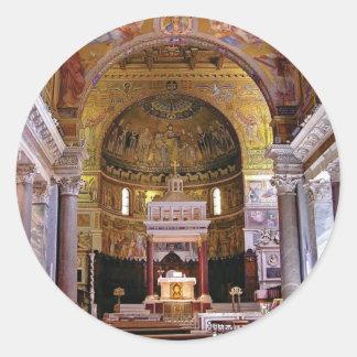 Sticker Rond À l'intérieur de l'église ouais