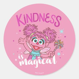 Sticker Rond Abby Cadabby - la gentillesse est magique