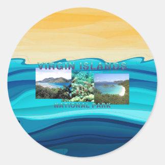 Sticker Rond ABH Îles Vierges