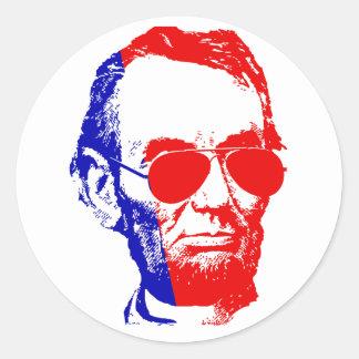 Sticker Rond Abraham Lincoln