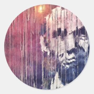 Sticker Rond Abrégé sur le Président Abraham Lincoln