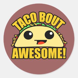 Sticker Rond Accès de taco impressionnant