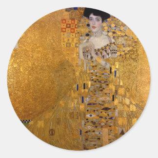 Sticker Rond Adele, Madame en or - Gustav Klimt