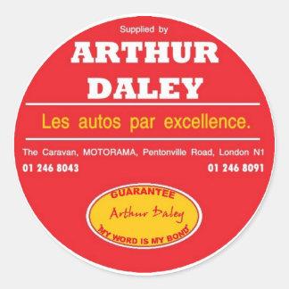 Sticker Rond Adhésif pour pare-chocs de voiture d'Arthur Daley