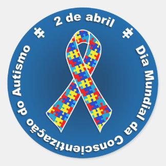 Sticker Rond Adhésive Sensibilisation de l'Autisme