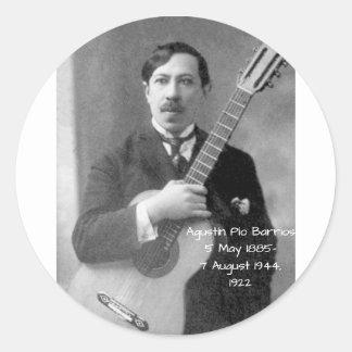 Sticker Rond Agustín Pio Barrios, 1922