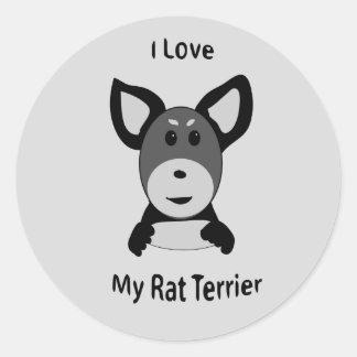Sticker Rond Aimez mon visage de singe de chaussette de Rat