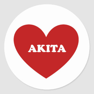 Sticker Rond Akita