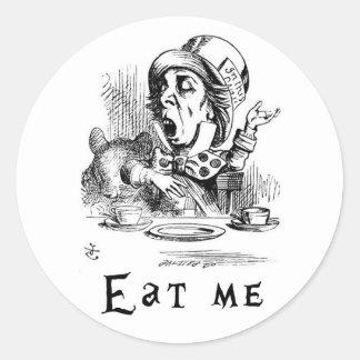 Sticker Rond Alice au pays des merveilles - mangez-moi