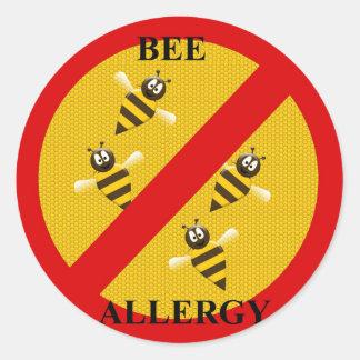Sticker Rond Allergique aux abeilles
