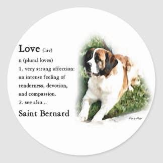 Sticker Rond Amants de St Bernard