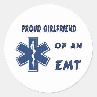 Sticker Rond Amie fière d'EMT