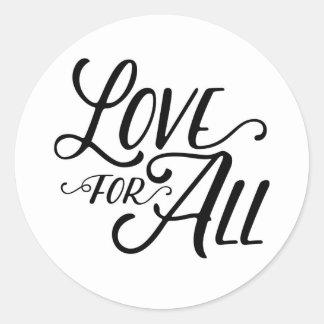 Sticker Rond Amour pour tout l'autocollant (noir)
