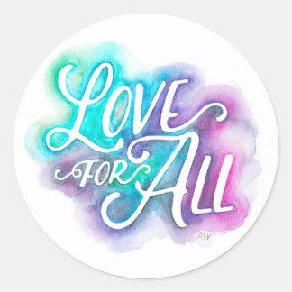 Sticker Rond Amour pour tout l'autocollant rond