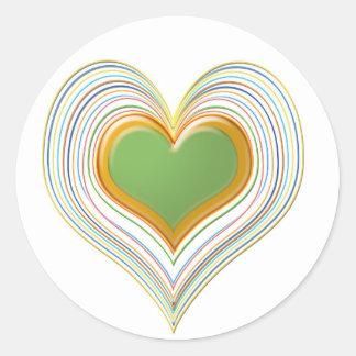 Sticker Rond Amoureux de vert vert -   magasin d'enfants