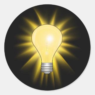Sticker Rond Ampoule d'idée lumineuse