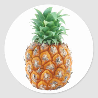 Sticker Rond Ananas