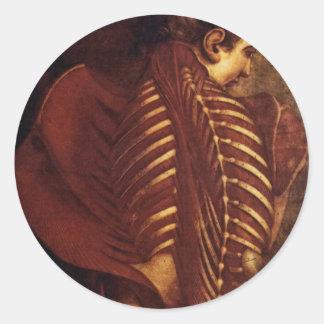Sticker Rond Anatomie/squelettique de l'autocollant de dos de