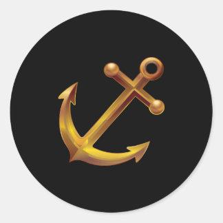 Sticker Rond Ancre nautique