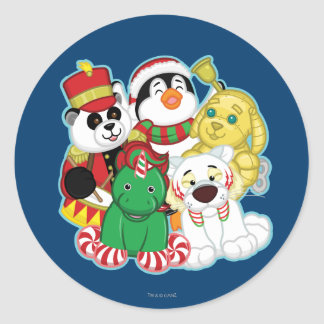 Sticker Rond Animaux familiers de vacances de Webkinz
