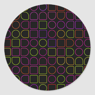 Sticker Rond Anneaux de couleur