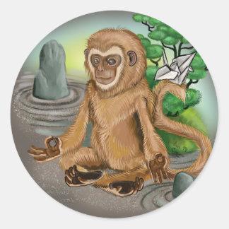 Sticker Rond Année chinoise de zodiaque du singe