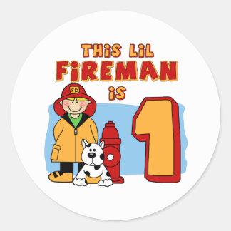 Sticker Rond Anniversaire de pompier de Lil ęr