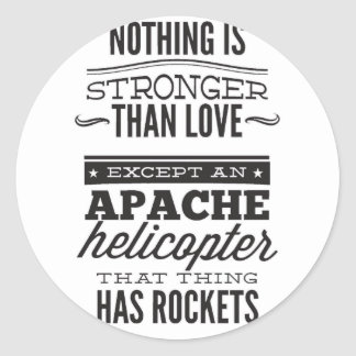 Sticker Rond Apache