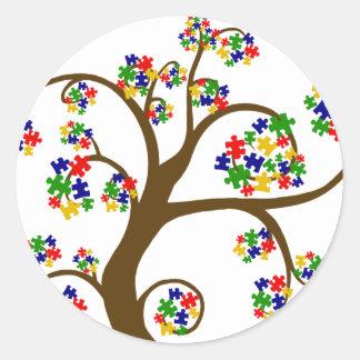 Sticker Rond Arbre d'autisme de la vie