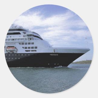 Sticker Rond Arc lisse de bateau de croisière