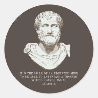 Sticker Rond Aristote a instruit l'esprit