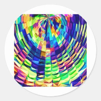 Sticker Rond Armure de panier - diamant magique Raibow V1