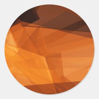 Sticker Rond Arrière - plan abstrait d'orange pour la