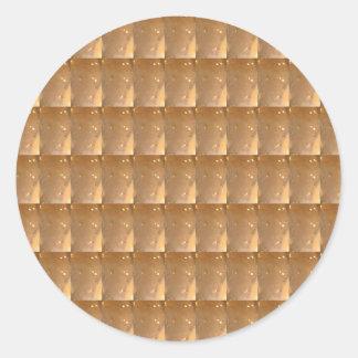 Sticker Rond Arrière - plan de bijou d'étincelle d'or du modèle