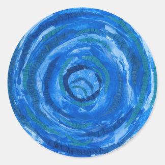 Sticker Rond art curatif #2 de 5th-Throat Chakra