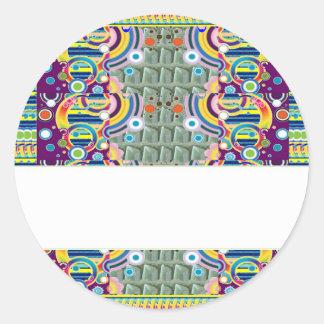 Sticker Rond ART d'AMUSEMENT décoratif tout le MODÈLE