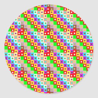 Sticker Rond Art original HEUREUX d'arrière - plan de