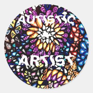 Sticker Rond Artiste autiste