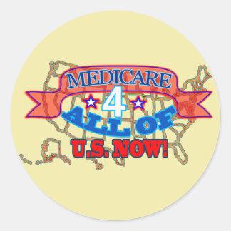 Sticker Rond Assurance-maladie 4 tous des États-Unis maintenant
