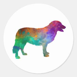 Sticker Rond Atlas Mountain Dog in watercolor