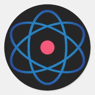 Sticker Rond Atome simple d'Emoji
