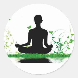 Sticker Rond attitude zen